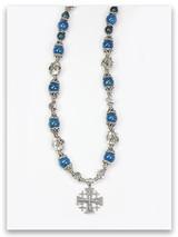 Eilat Stone Jerusalem Cross Necklace