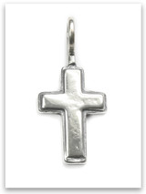 Latin Cross Sterling Silver Traditional Children Pendant
