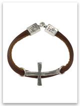 Power of God Leather Bracelet w/sterling Trio Ends