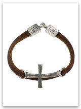 Power of God Leather Bracelet w/sterling Trio Ends