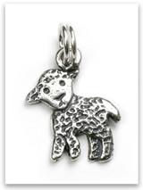 Lamb Sterling Silver Charm