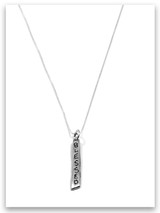 Blessed iTAG Sterling Silver Necklace
