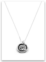 Crucified iTAG Sterling Silver Necklace