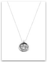 Never Quit iTAG Sterling Silver Necklace