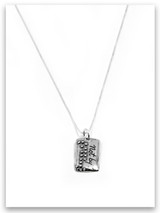 Not By Sight iTAG Sterling Silver Necklace