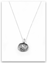 Peace iTAG Sterling Silver Necklace