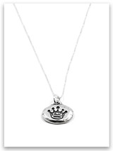 Princess iTAG Sterling Silver Necklace