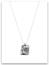 Touched My Life iTAG Sterling Silver Necklace
