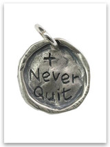 Never Quit Sterling Silver iTAG Charm