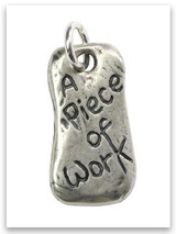 A Piece of Work Sterling Silver Charm