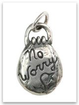 No Worry Sterling Silver iTAG Charm