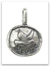 Peace Sterling Silver iTAG Pendant