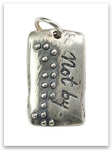 Not By Sight Sterling Silver iTAG Charm