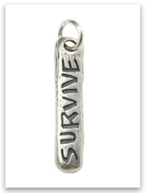Survive Sterling Silver iTAG Charm