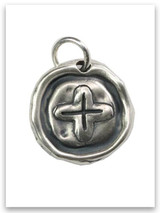 Crucified Sterling Silver iTAG Charm