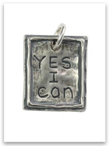 Yes I Can Sterling Silver iTAG Charm