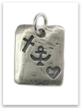 Faith-Hope-Love Sterling Silver iTAG Charm