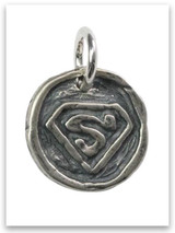 Superhero Sterling Silver Charm