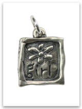 Flower Girl Sterling Silver Charm