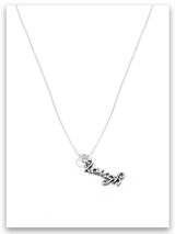 Laugh iTAG Sterling Silver Necklace