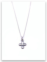 Tiny Cross iTAG Sterling Silver Necklace