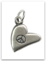 Peace Sterling Silver Charm