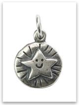 Shining Star Sterling Silver Charm