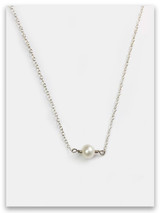Modesty Single Pearl Necklace
