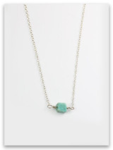 Simple Turquoise Sterling Silver Necklace