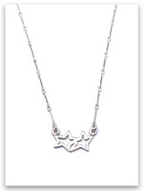 """Sterling Silver Wish Upon A Star Necklace. Available from 13""""- 16"""" length. Because I wish upon a star I pray to the stars creator."""