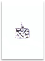 Sisters Sterling Silver Charm