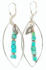 Prosper Turquoise Large Oval Sterling Earrings