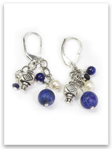 Lapis Cluster Earrings