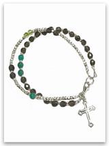 Diamonds Double Strand Topaz Bracelet