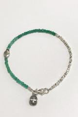 Emerald Sterling Nuggets Kindness Bracelet