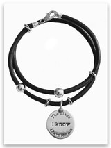 Classic Leather Wrap With Scripture Charms