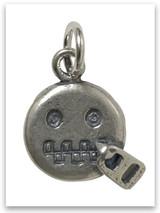 Zip It Emoji Sterling Silver Charm
