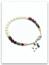 Bold Faith Pearl, Garnet and Multi Stone Bracelet