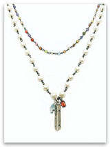 I Will Rise Pearl and Semi-Precious Stone Necklace