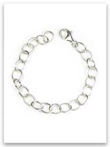 Large 8mm Link Charm Bracelet