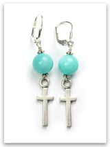 East-West Amazonite Earrings