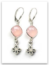 My Strength Cross Earrings Semi-Precious Stone