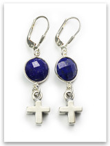 Bold Faith Lapis Earrings