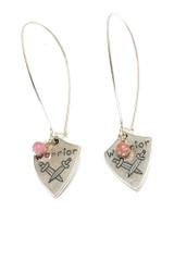 Pink Warrior Earrings