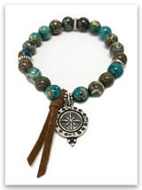 Oceans Lead Me Compass  Bracelet