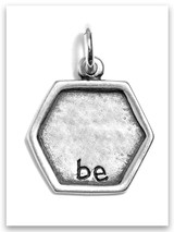 Sterling Silver Be Sweet and Wise Charm