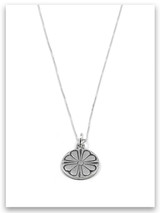 Peace of the Lord Sterling Silver Charm Necklace