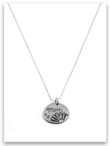 Mom Sterling Silver Charm Necklace