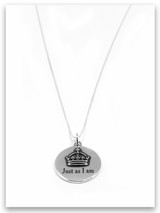 Just As I Am Sterling Silver Charm Necklace