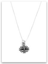 Jerusalem's Cross Sterling Silver Charm Necklace